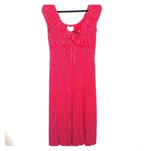 Raindrops- red polka dots sweet & sexy dress.